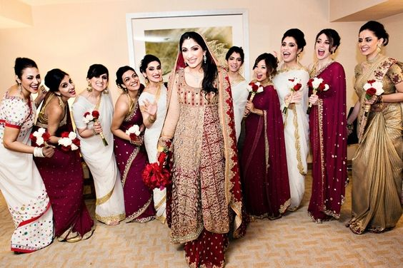 wedding bridesmaid dresses ideas. maroon