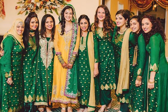 wedding bridesmaid dresses ideas. mehndi