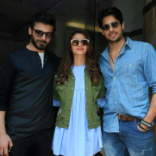 Fawad Khan, Alia Butt and Sidharth Malhotra having fun during promotion of Kapoor and Sons (8)