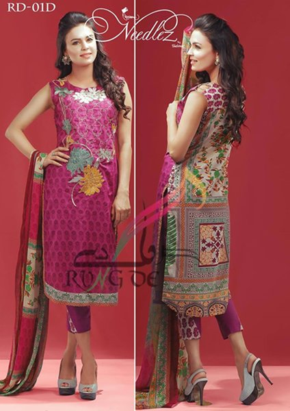 Needlez By Shalimar Lawn Dresses 2016 For Women003