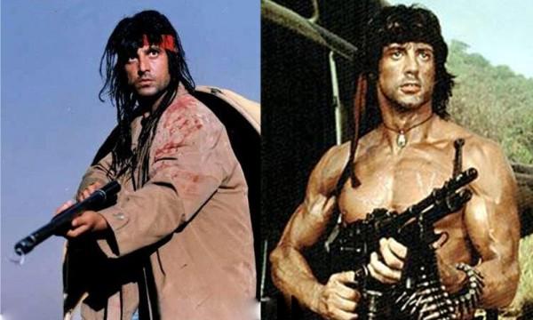 Afzal Khan aka Rambo and Sylvester Stallone