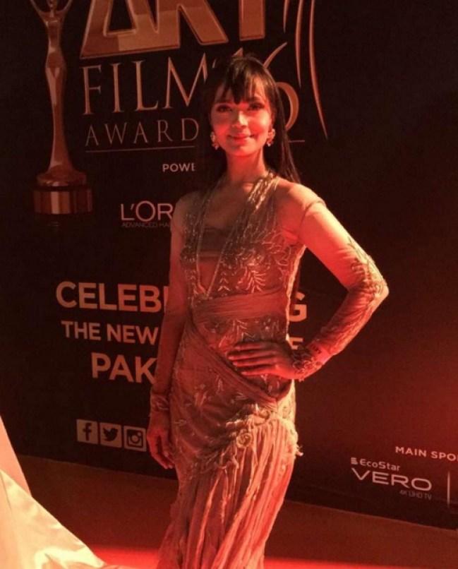Aamina Sheikh at ARY Film Awards 2016