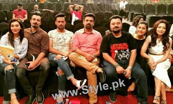 Pakistani Celebrities at rehearsals of 4th HUM Awards 2016 in Dubai (7)