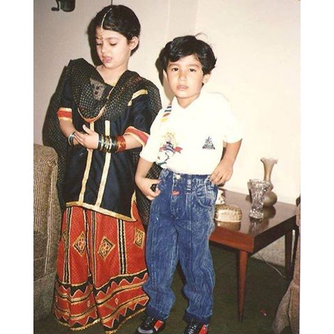 Pictures of Mahira Khan with her brother (2)