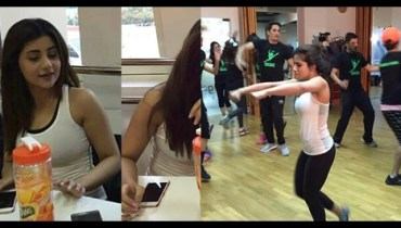 See Sohai Ali Abro during rehearsals of Ary Film Awards 2016 in Dubai