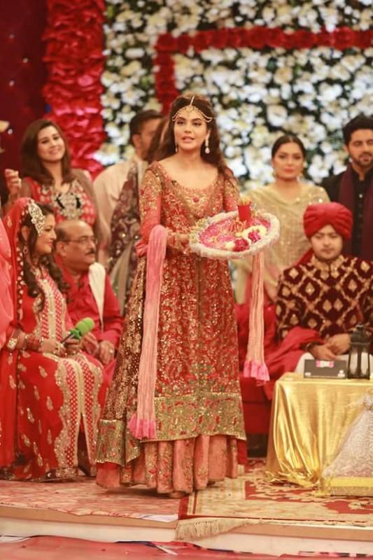 Ahmed Hassan and Nousheen Ibrahim's Grand Wedding in Good Morning Pakistan (8)