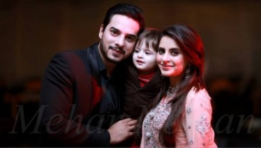 Fatima Effendi and Kanwar Arslan With Their Son