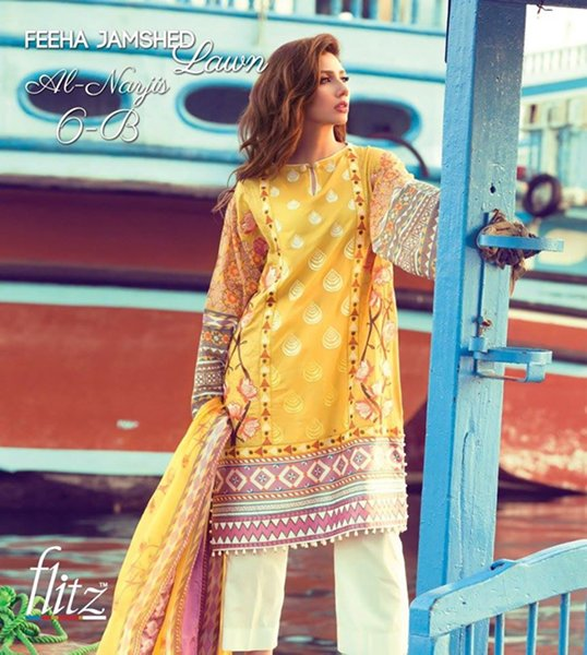 Feeha Jamshed Lawn Dresses 2016 For Women0013