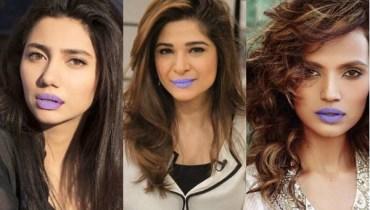Pakistani Actress In Purple Lipstick