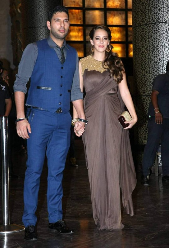 Preity Zinta and Gene Goodenough's reception Pictures (11)