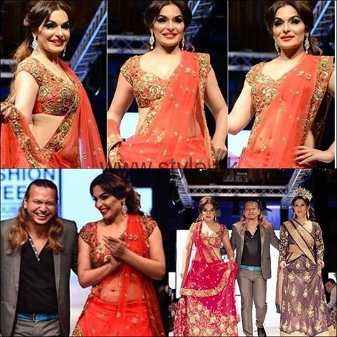 See Meera Walked on Ramp at Indian Couture Week 2016