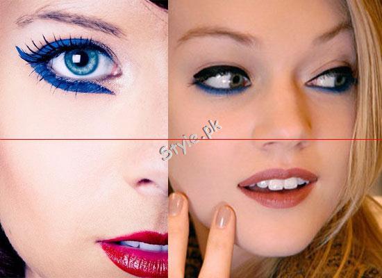 Blue Eyeliner Makeup Ideas.9