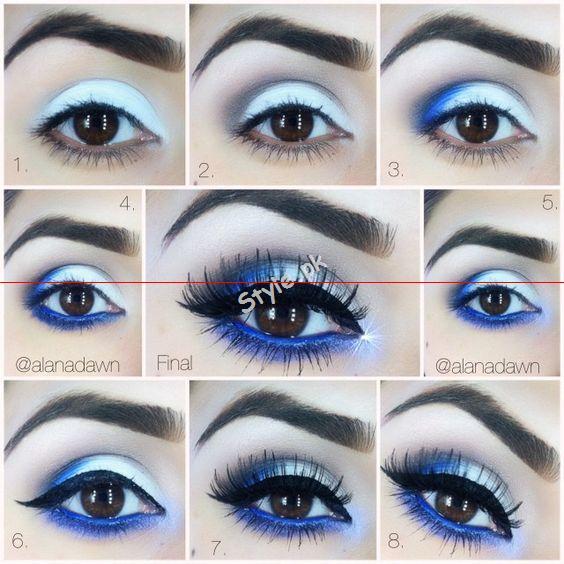 Blue Eyeliner Makeup Ideas