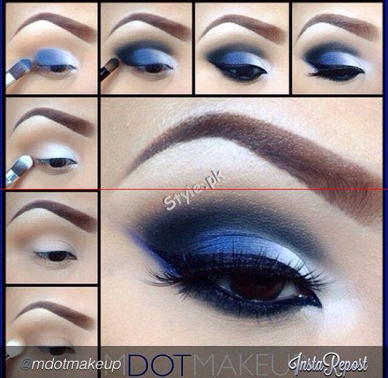 Blue Eyeliner Makeup Ideas01