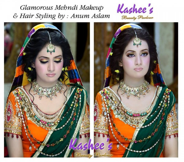 Latest Makeup Ideas for Mehndi event (10)