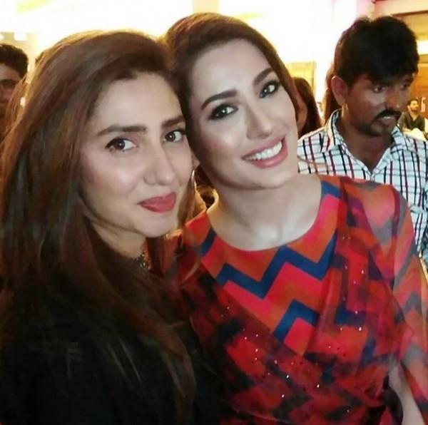 Mehwish Hayat and Mahira Khan