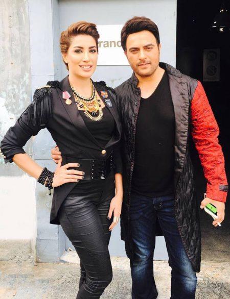 Mehwish Hayat and Shiraz Uppal during shoot of Coke Studio season 9 (2)