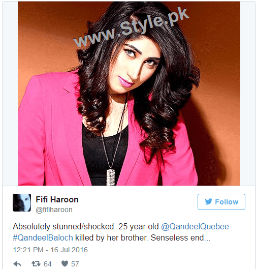 Pakistanis are shocked at Qandeel Baloch's murder (7)