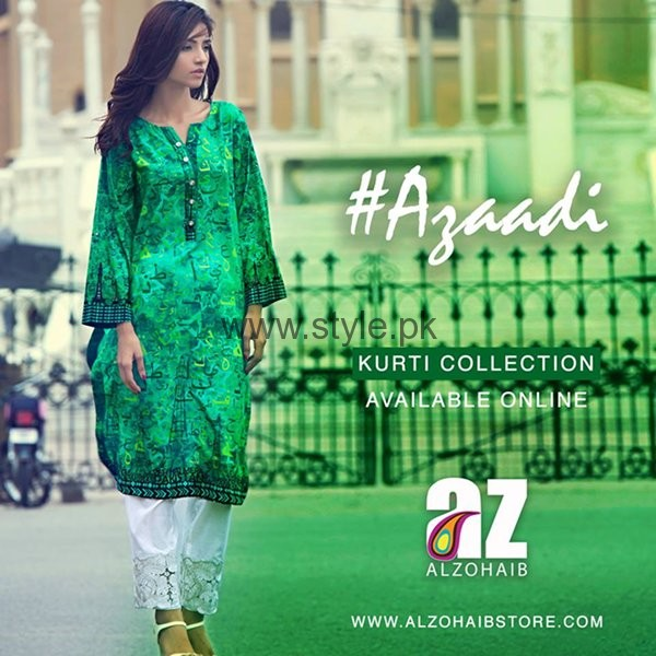 Al Zohaib Textile Independence Day Dresses 2016 For Women005