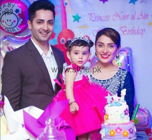 Ayeza Khan Danish Taimoor With Their Daughter