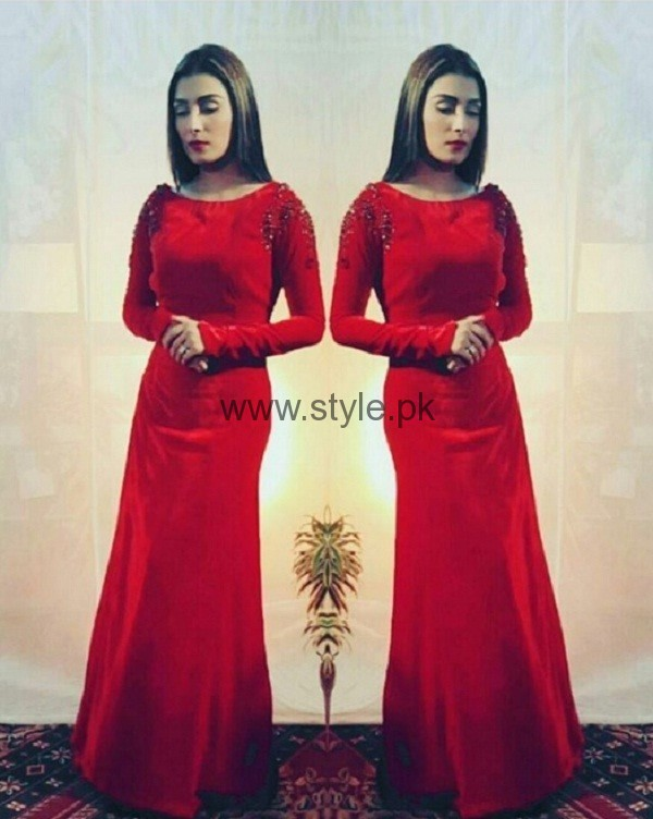 Ayeza Khan In Red Outfit