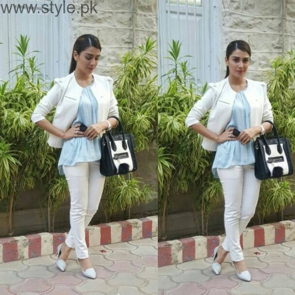 Ayeza Khan In White Outfit