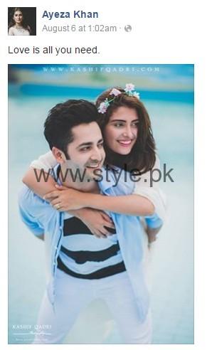 Ayeza Khan and Danish Taimoor Love