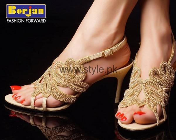 Latest Bridal Golden High Heels 2016 (8)