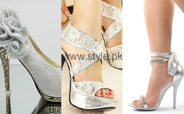 See Latest Bridal Silver High Heels 2016 Latest Bridal Silver High Heels 2016