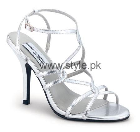 Latest Bridal Silver High Heels 2016  (2)