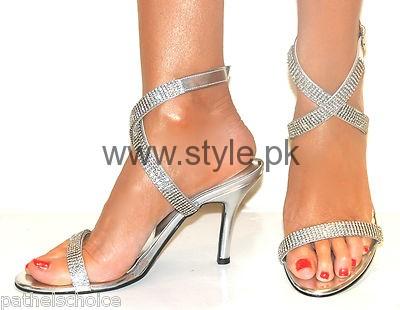 Latest Bridal Silver High Heels 2016  (4)