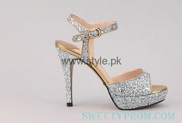 Latest Bridal Silver High Heels 2016  (6)