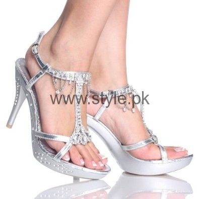 Latest Bridal Silver High Heels 2016  (7)