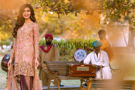 Latest Embroidered dresses 2016 for Newly Married girls (7)