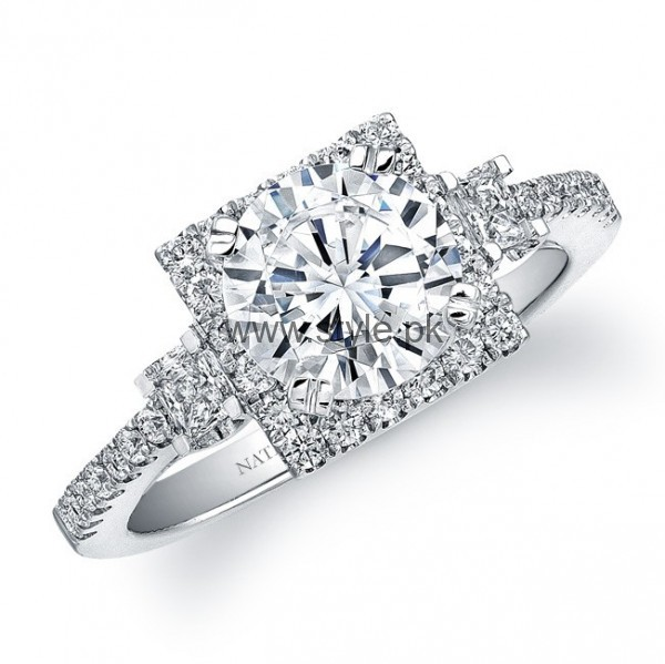 Latest Engagement Diamond Rings for Girls 2016 (19)