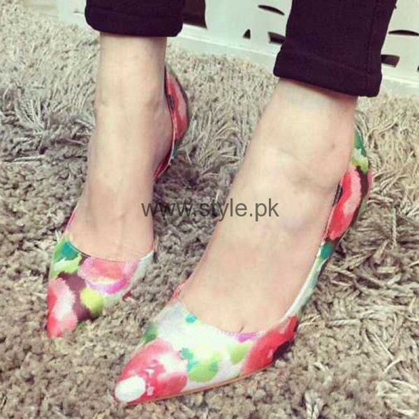 Latest Summers Floral Heels 2016 (4)