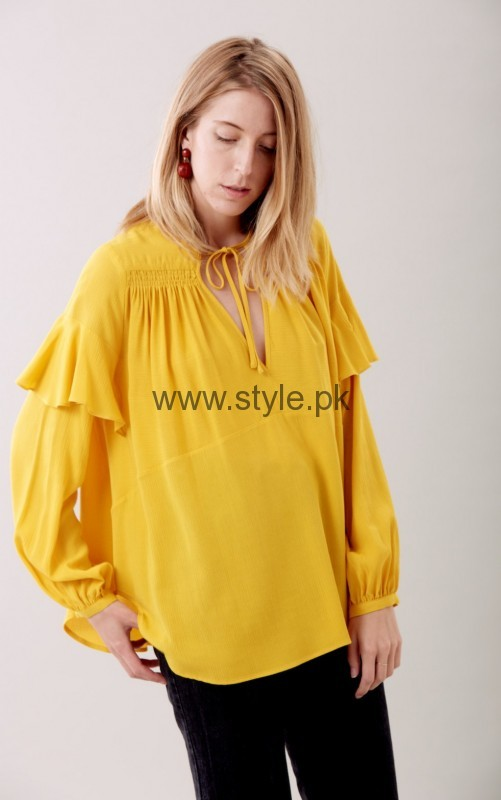 Latest Yellow summers tops for Women 2016 (10)