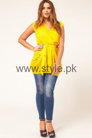 Latest Yellow summers tops for Women 2016 (11)