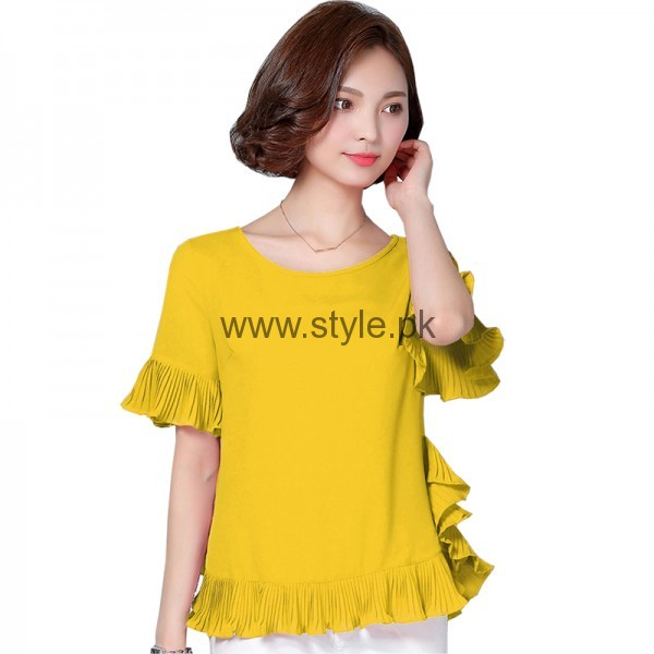 Latest Yellow summers tops for Women 2016 (2)