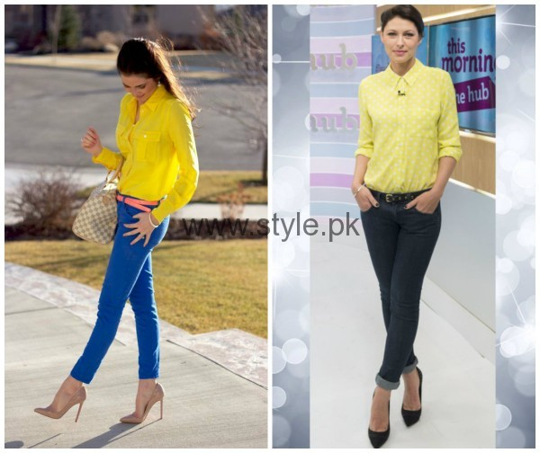 Latest Yellow summers tops for Women 2016 (3)