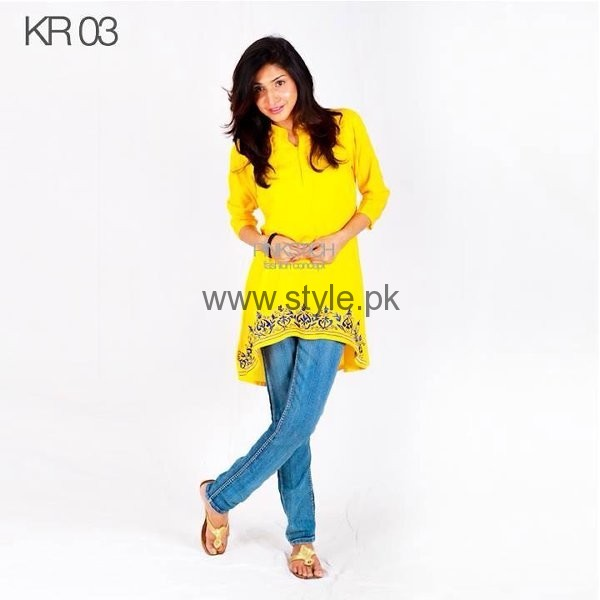Latest Yellow summers tops for Women 2016 (5)