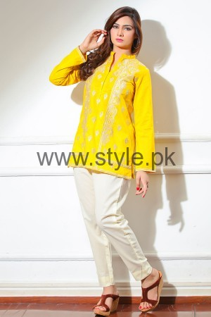 Latest Yellow summers tops for Women 2016 (9)