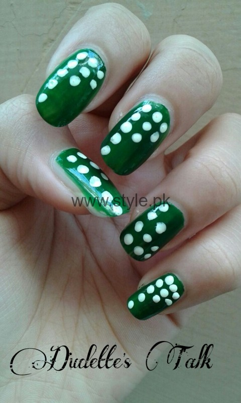 Nail Art Ideas 2016 for Pakistan's Independence Day (8)
