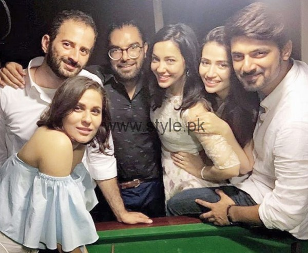 Nausheen Shah and Sana Javed In A Party