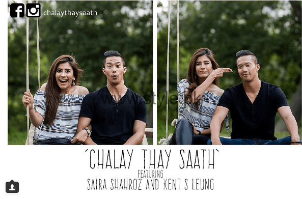 Pictures from shooting of Chalay Thay Saath (1)