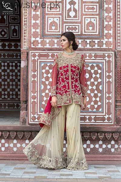 Ayesha And Usman Qamar Bridal Dresses 2016 For Women0010