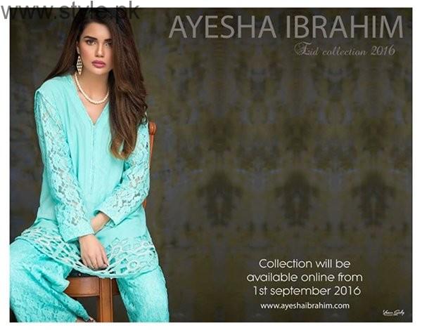 Ayesha Ibrahim Eid Ul Azha Dresses 2016 For Women