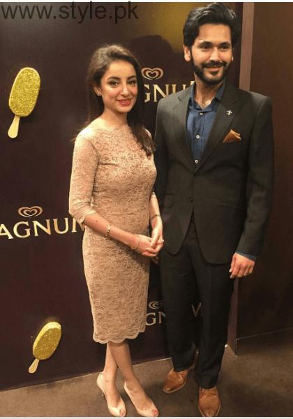 Beautiful Clicks of Sarwat Gilani and Fahad Mirza at Magnum Party 2016 (4)