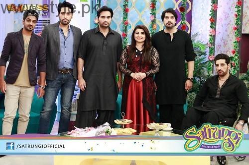 See Humayun Saeed with his brothers