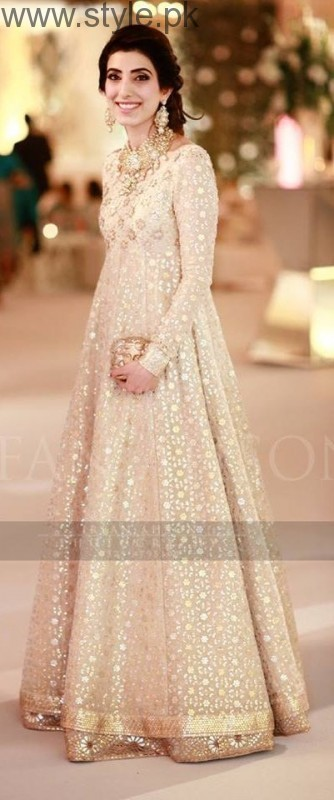 Latest Pakistani White party wear dresses 2016 (12)